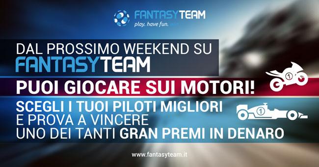 Fantasyteam introduce Moto GP e Formula 1