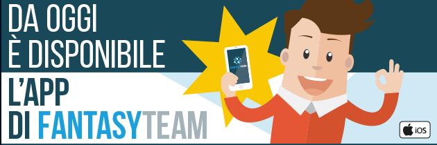 Da oggi disponibile l'app di Fantasy Team